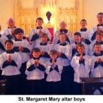 Join the altar boys of St. Margaret Mary