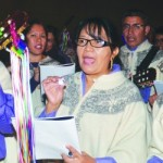 Bishop Vann welcomes Las Posadas procession into future Christ Cathedral