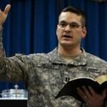 Military censors Christian chaplain