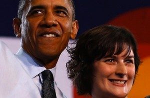 Barrack Obama and Sandra Fluke (from Reuters)