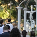 Thomas Aquinas College's new Stations of the Cross run uphill