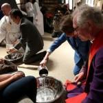Nancy Pelosi, SF supervisors, Catholic deacon wash feet on Holy Thursday