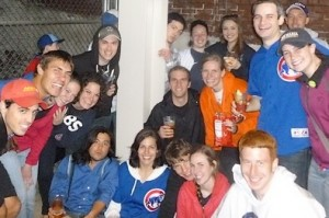 Quo Vadis group at St. John Cantius goes to Cubs game