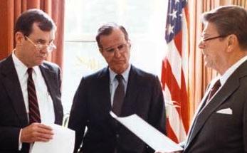 Clark, VP Bush, Reagan, 1982