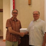 At Most Holy Redeemer, two dads, Kevin and Brian