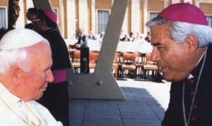 Pope John Paul II and Bishop Romo