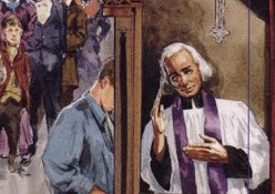 St. John Vianney in confessional