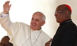 Pope Francis with Cardinal Napier of South Africa