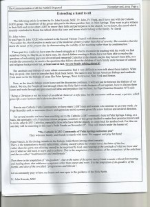 Bulletin insert - click to enlarge