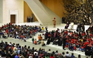 Photo accompanying the Vatican Radio account of the papal address