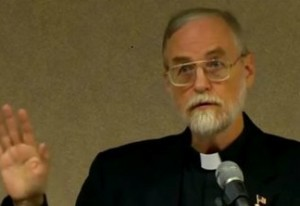 Father Sullins - photo from Facebook page of Diocese of San Jose Ministry to Gays and Lesbians attacking Father Sullins