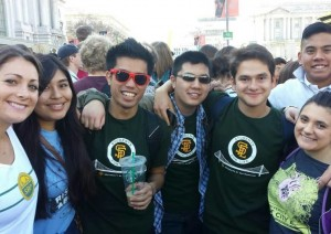The three students from University of San Francisco