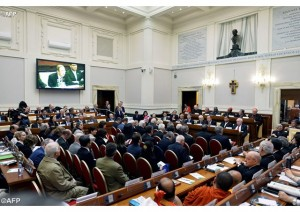 "The Pontifical Academies of Sciences and Social Sciences on Tuesday hosted a workshop at the Vatican called ""Protect the Earth, Dignify Humanity"". - AFP"