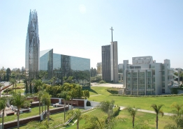 Christ Cathedral, formerly known as Crystal Cathedral.  (Diocese of Orange)