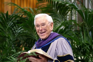 """Rev. Robert H. Schuller, founder of Crystal Cathedral and """"Hour of Power,"""" passed away on  April 2. (Hour of Power/ Crystal Cathedral Ministries)"""