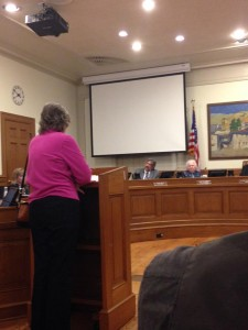 Nina Beatty cited allegations that Native Americans were mistreated prisoners at the Carmel Mission at the Monterey city council meeting