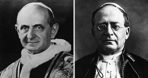 Pope Paul VI and Pius X transmitted on February 26,, Religion News Service file photo