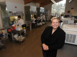 Cate Dyer, founder and CEO of StemExpress. (UC Davis website)