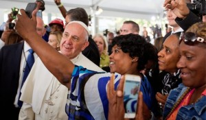 Amid Pope Francis' first-ever visit to the U.S. this week, some analysts are digging into the books to note the amount of money the American government doles out to Catholic charities every year. (Photo by David Goldman/Associated Press)