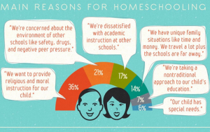 Part of detailed graphic on homeschooling by TopMastersInEducation.com