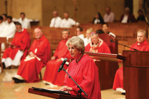 Associate Justice Corrigan offers closing remarks at the Red Mass.