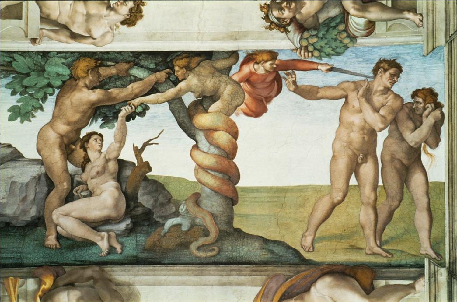 Scene from Michelangelo's Sistine Chapel