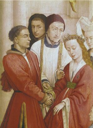 Matrimony, The Seven Sacraments, Rogier van der Weyden, c. 1445 (Wikipedia)