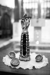 HOLY REMAINS—The arm of St. Jude, one of the Catholic church's most venerated relics, will travel to St. Rose of Lima in Simi Valley for three days of healing masses next month. (Courtesy of the Dominican Shrine of St. Jude Thaddeus)
