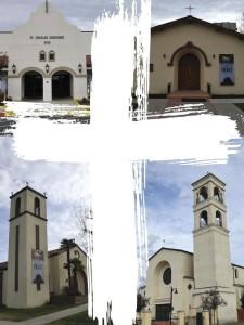 St. Charles Borromeo Church in Visalia, St. Thomas the Apostle Church in Goshen, Holy Family Church in Visalia and St. Mary's in Visalia. (Photo: Sylverarts / Juan Villa)