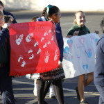 Elementary school students hold own March for Life