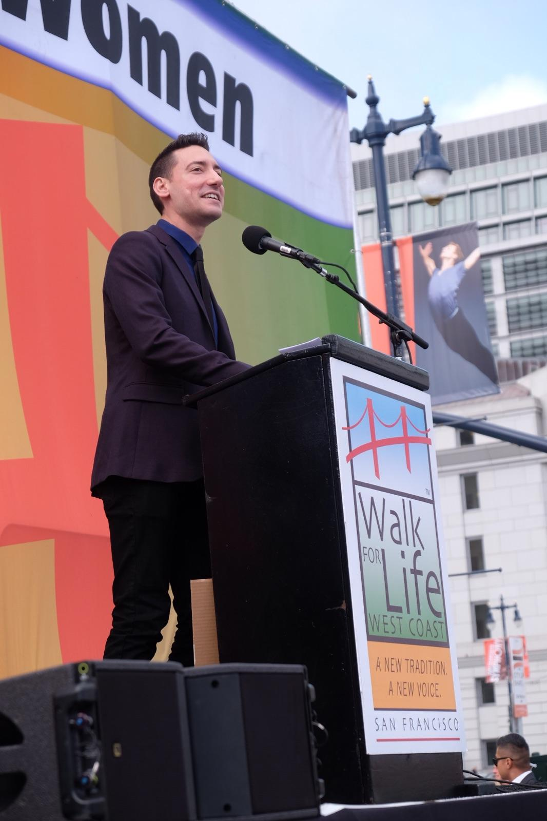 David Daleiden at the rally
