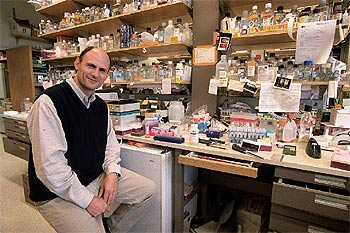 Juan Carlos Izpisúa Belmonte, in his laboratory at the Salk Institute of California. (photo: Uly Martin)