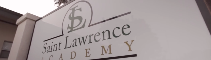 Saint Lawrence Academy, is a college-preparatory Roman Catholic high school in Santa Clara, California, USA founded in 1975. The school is marketed for its small size with close interaction among students, administration, faculty, and counselors. (wikipedia. Screenshot from YouTube)