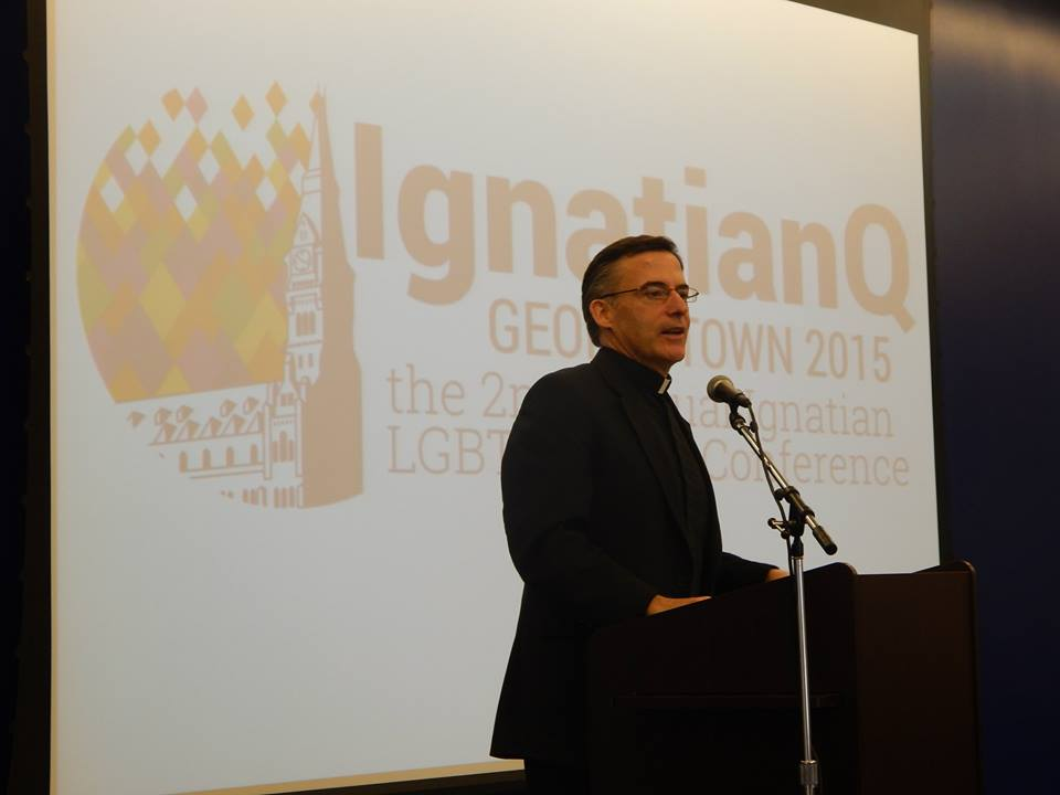 Father O'Brien at the 2015 IgnatianQ Conference.
