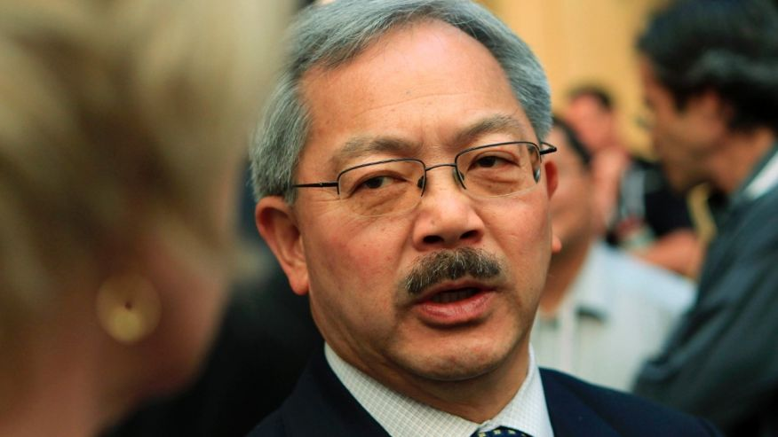 San Francisco Mayor Ed Lee speaks with attendees at the Web 2.0 Summit in San Francisco, California. (Reuters)