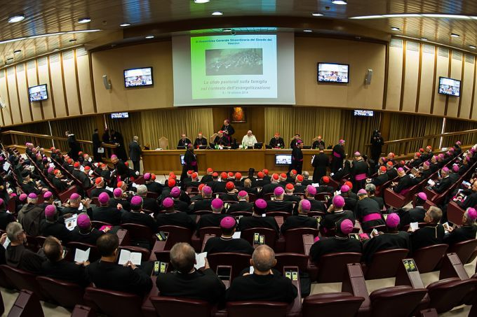 Opening session of the Synod of Bishops, Oct. 6, 2014. Credit: Mazur/catholicnews.org.uk (CC BY-NC-SA 2.0).