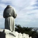 Decapitated head of Junipero Serra statue found during low tide
