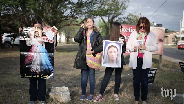 South Texas's only abortion clinic, located in the border town of McAllen, has become a battleground for abortion activists on both sides. (Whitney Leaming/The Washington Post)