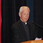 Bishop John Cummins speaks at Holy Names University