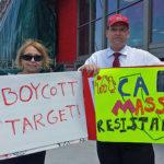Mass Resistance pickets Torrance Target