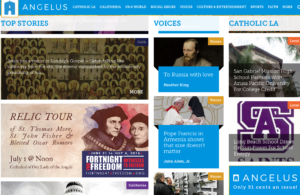 New home page for the Angelus
