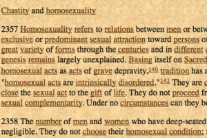 Official catholic doctrine on homosexuality