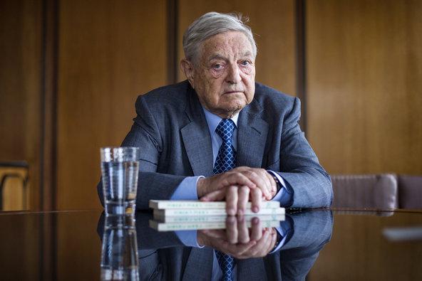 Billionaire George Soros (Joshua Bright for The New York Times)