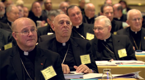 U.S. bishops at the General Assembly 2015 Fall Meeting held in Baltimore. (Photo courtesy of the USCCB.)