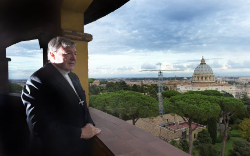 Cardinal George Pell at his office in the Vatican in 2014 (PA)