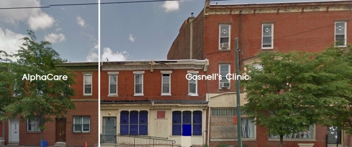 AlphaCare's new location, just one wall away from Kermit Gosnell's shuttered abortion clinic. (Photo Courtesy: AlphaCare)