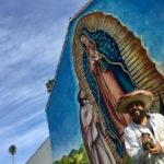 Massive image of Our Lady of Guadalupe painted on side of Riverside County church