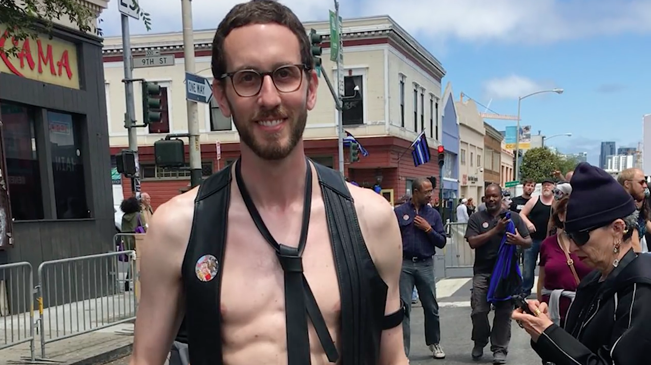 Democratic State Senator Scott Weiner, who is sponsoring the bill, at the  gay-friendly BDSM and leather subculture Folsom Street Fair in 2016.