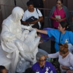 Life-size marble casting of Michelangelo's Pietà placed at Inglewood parish