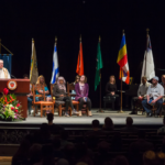 A Muslim Call to Prayer, a Buddhist lecture, a Hindu dance, and a Jewish prayer